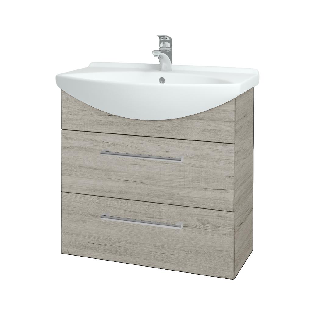 Dreja - Kúpeľňová skriňa TAKE IT SZZ2 75 - D05 Oregon / Úchytka T03 / D05 Oregon (133931C)