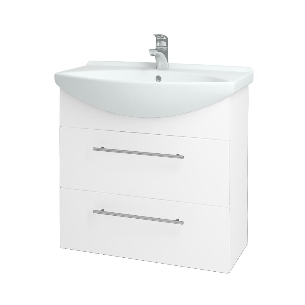 Dreja - Kúpeľňová skriňa TAKE IT SZZ2 75 - N01 Bílá lesk / Úchytka T02 / N01 Bílá lesk (134440B)