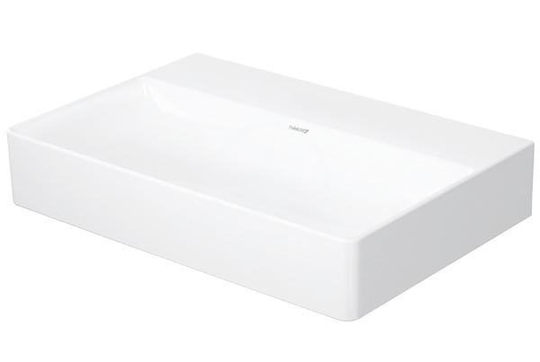 DURAVIT - DuraSquare Umývadlo nábytkové Compact 600x400 mm, DuraCeram, s WonderGliss, alpská biela (23566000791)