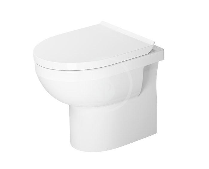 DURAVIT - DuraStyle Basic Stojace WC, zadný odpad, Rimless, s WonderGliss, alpská biela (21840900001)