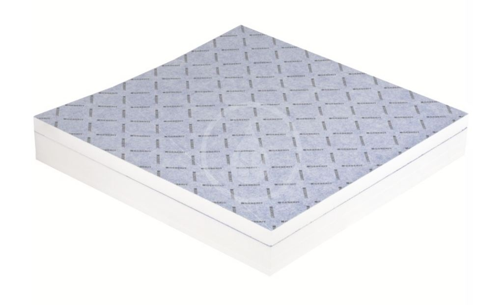 GEBERIT - Příslušenství Sprchová doska 900x900 mm, umožňujúca obloženie, so spádom do V (154.252.00.1)