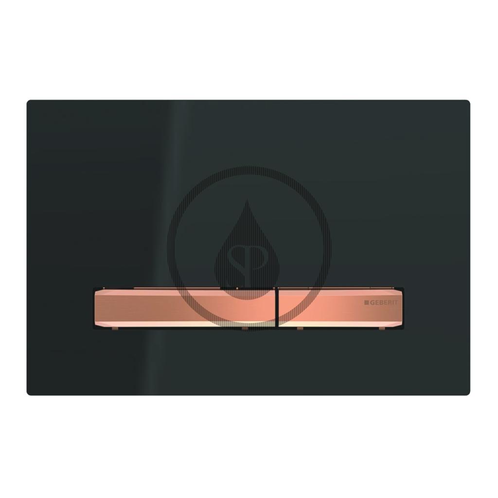 GEBERIT - Sigma50 Ovládacie tlačidlo na 2 množstvá splachovania, čierna/červené zlato (115.670.DW.2)