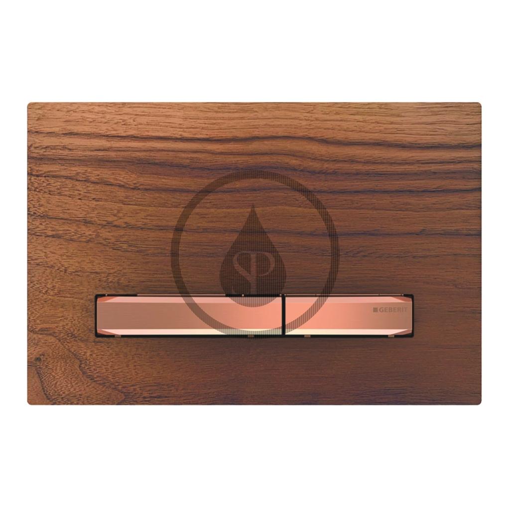 GEBERIT - Sigma50 Ovládacie tlačidlo na 2 množstvá splachovania, orech americký/červené zlato (115.670.JX.2)