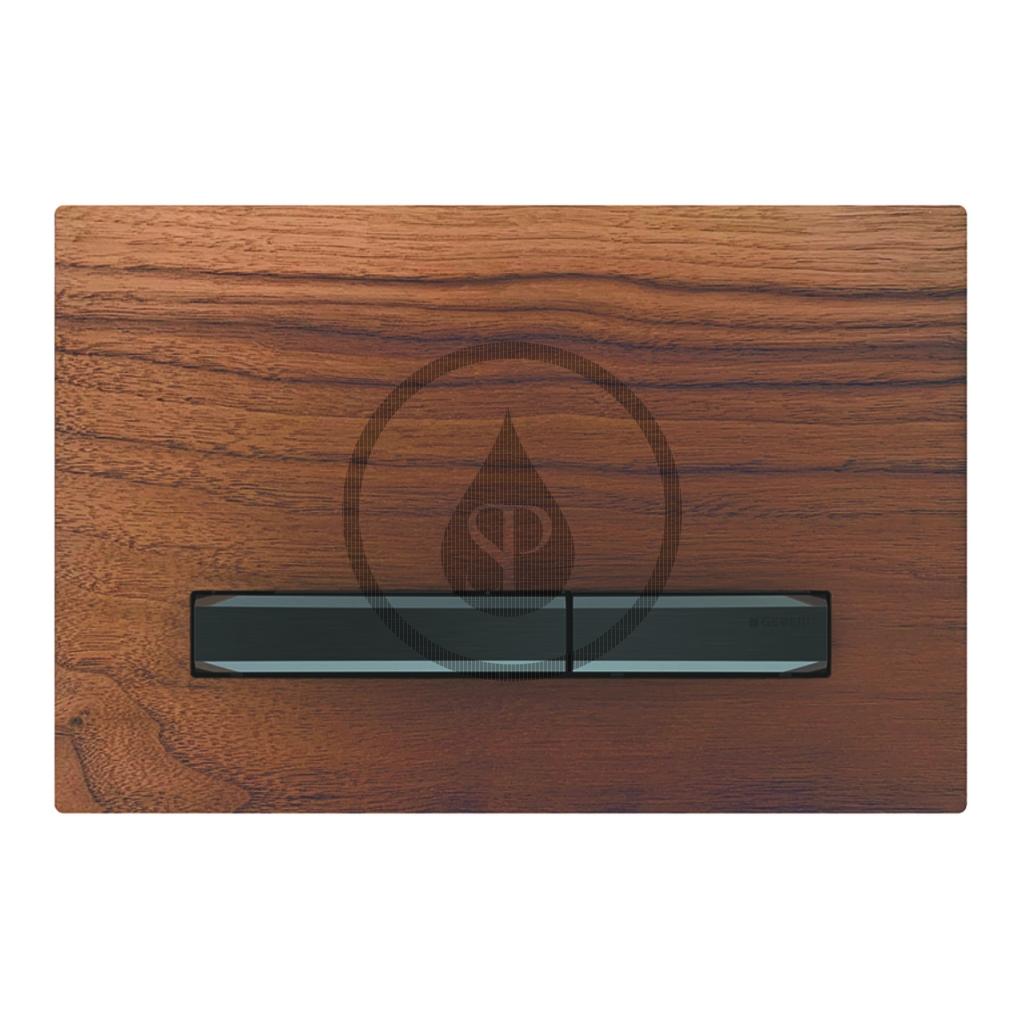 GEBERIT - Sigma50 Ovládacie tlačidlo na 2 množstvá splachovania, orech americký/čierny chróm (115.671.JX.2)