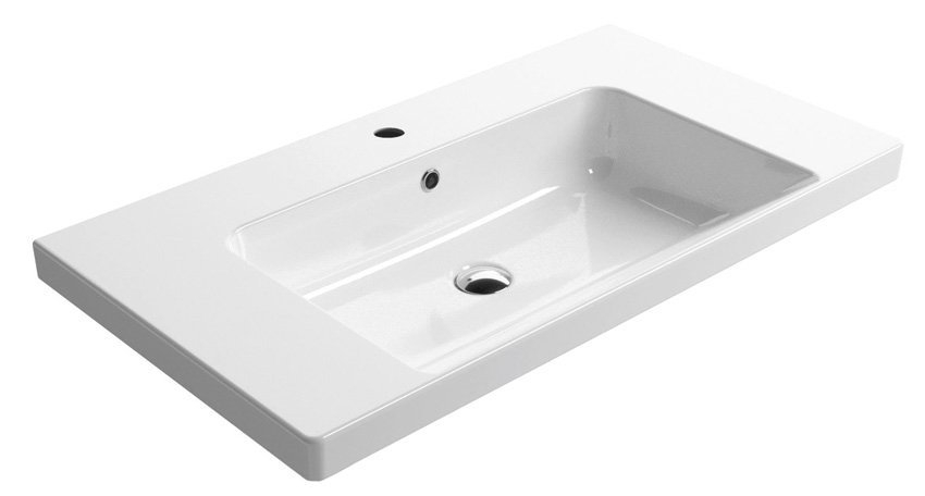 GSI - NORM keramické umývadlo 90x18x50 cm, biela ExtraGlaze (8688111)