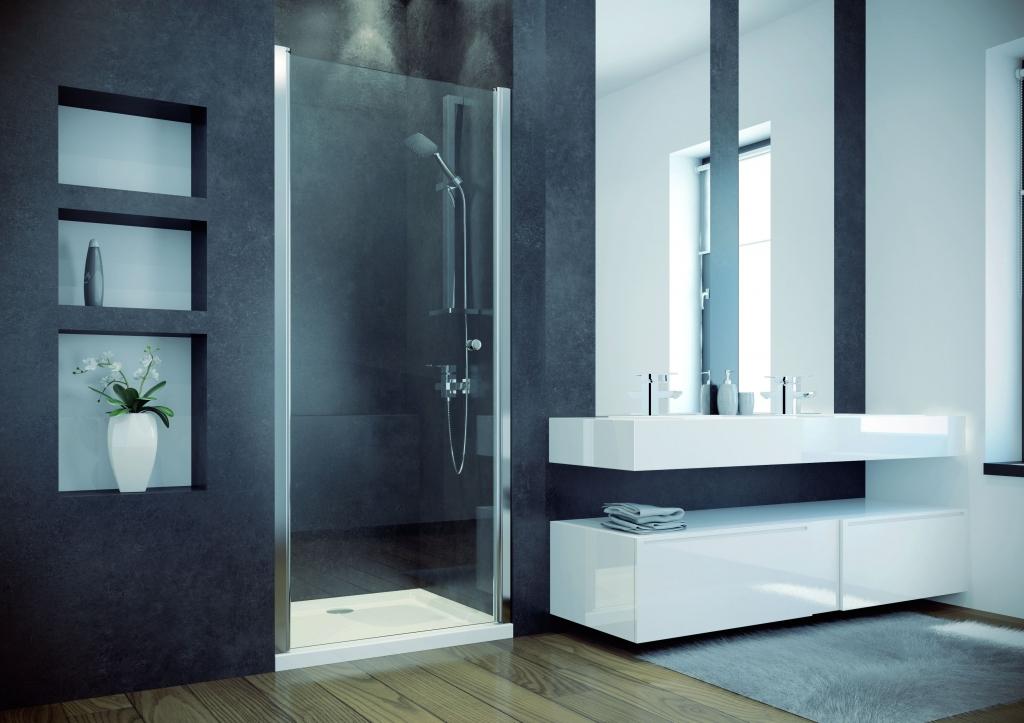 HOPA - Bezrámové sprchové dvere SINCO - Farba rámu zásteny - Hliník chróm, Rozmer A - 90 cm, Smer zatváranie - Univerzálny Ľavé / Pravé, Výplň - Číre bezpečnostné sklo - 6 mm, Výška - 195 cm (BCSIN90)