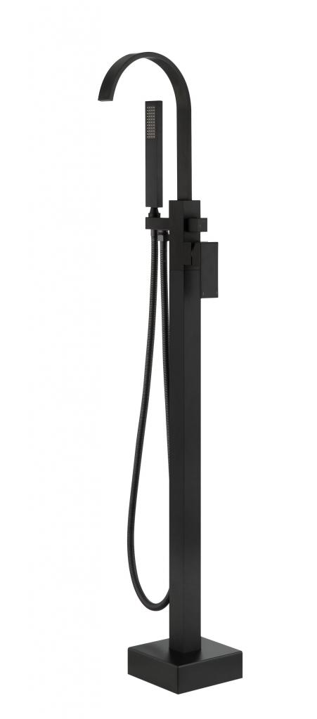 HOPA - Stojánková vaňová batéria MODERN II - Radiátory - Farebné prevedenie HL - Čierna matná (BABWMIICZ)