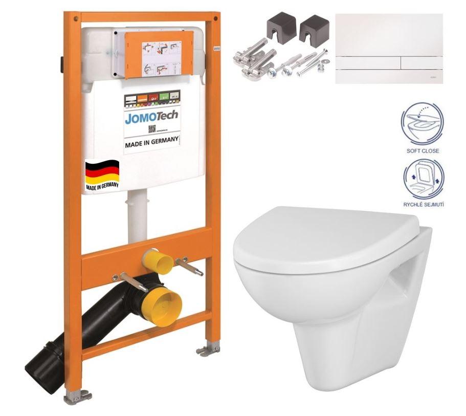 JOMOTech modul pre závesné WC s bielou doskou + WC CERSANIT CLEANON PARVA + SEDADLO (174-91100900-00 PA1)