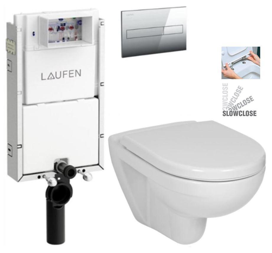 LAUFEN Podomít. systém LIS TW1 SET s chrómovým tlačidlom + WC JIKA LYRA PLUS + SEDADLO duraplastu SLOWCLOSE (H8946630000001CR LY5)