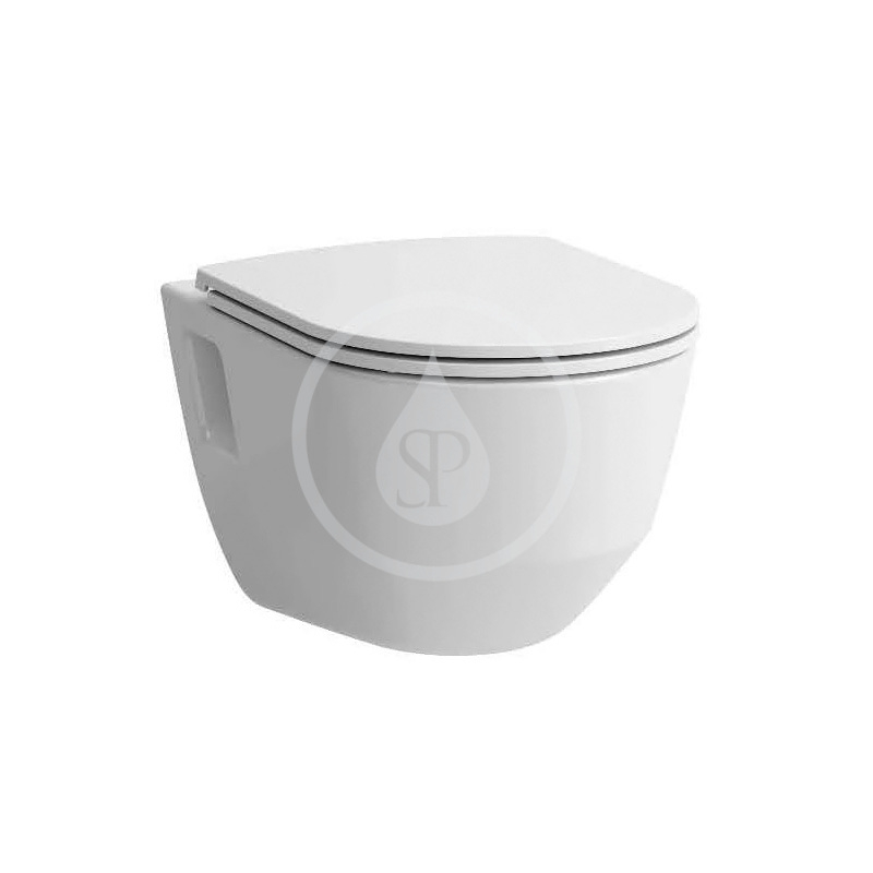Laufen - Pro Závesné WC so sedadlom Slim, Slowclose, Rimless, biela (H8669540000001)