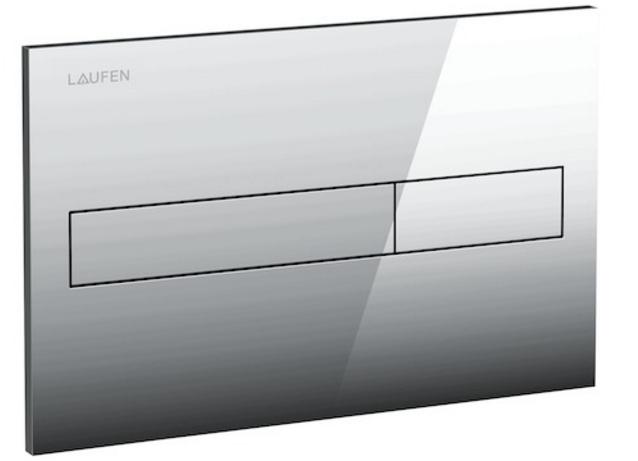 Laufen - Splachovací tlačítko AW1, Dual Flush - lesklý chrom plast (H8956610040001)