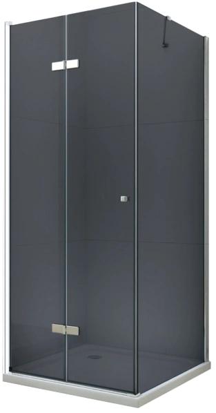 MEXEN/S - LIMA sprchovací kút 100x100 cm, grafit, chróm (856-100-100-01-40)