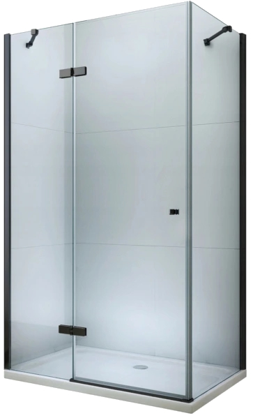 MEXEN/S - ROMA sprchovací kút 120x80 cm, transparent, čierna (854-120-080-70-00)