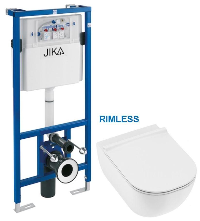 predstenový inštalačný systém bez tlačidla + WC JIKA MIO + SEDADLO SLIM (H895652 X IO1)