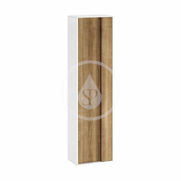 RAVAK - Step Vysoká skrinka SB, 430x290x1600 mm, biela/orech (X000001420)