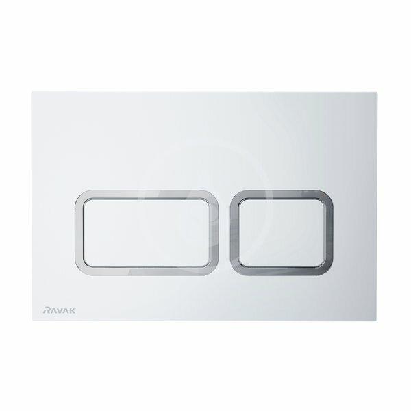 RAVAK - Twin Ovládacie tlačidlo pre splachovanie WC, satin (X01739)
