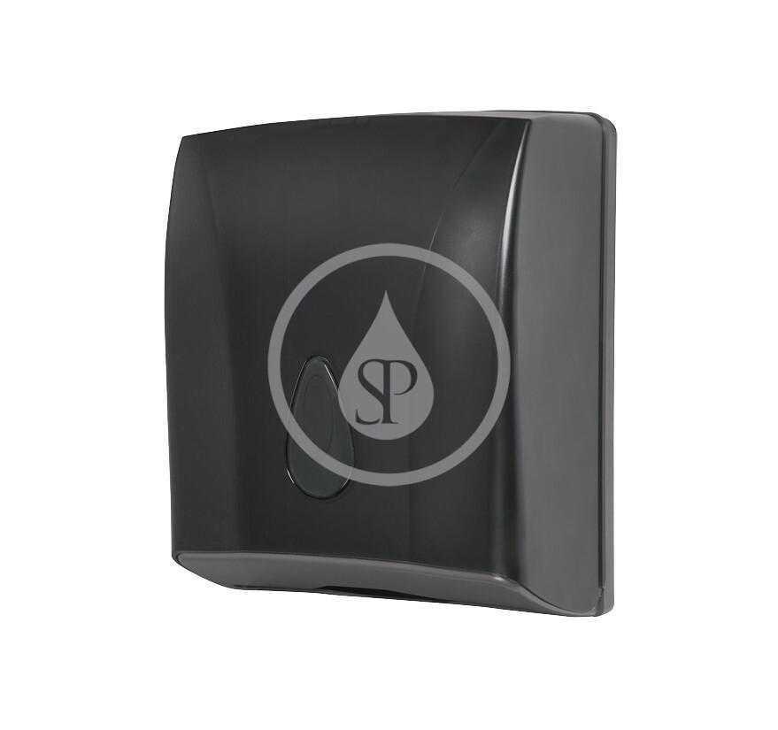 SANELA - Hygiena toalety Zásobník na papierové uteráky skladané, čierna (SLDN 03N)