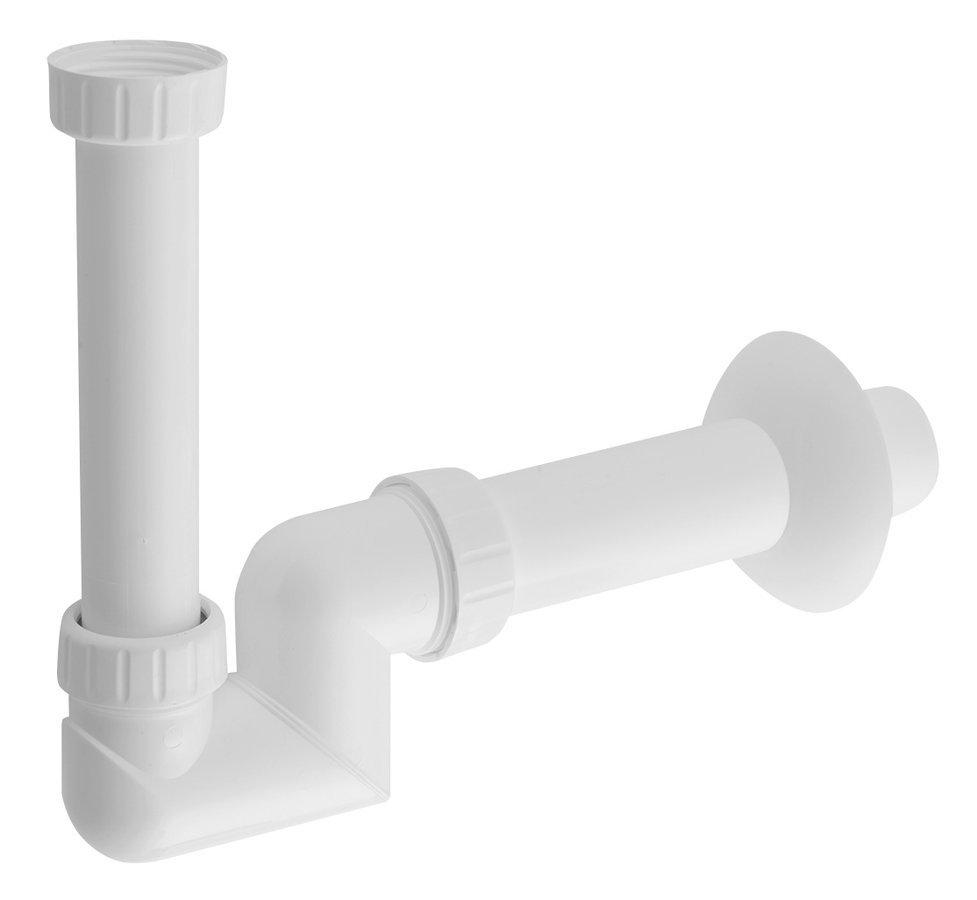 SAPHO - Umývadlový sifón s prevlečnou matkou 5/4' nízky, odpad 40mm, plast (CV1025)