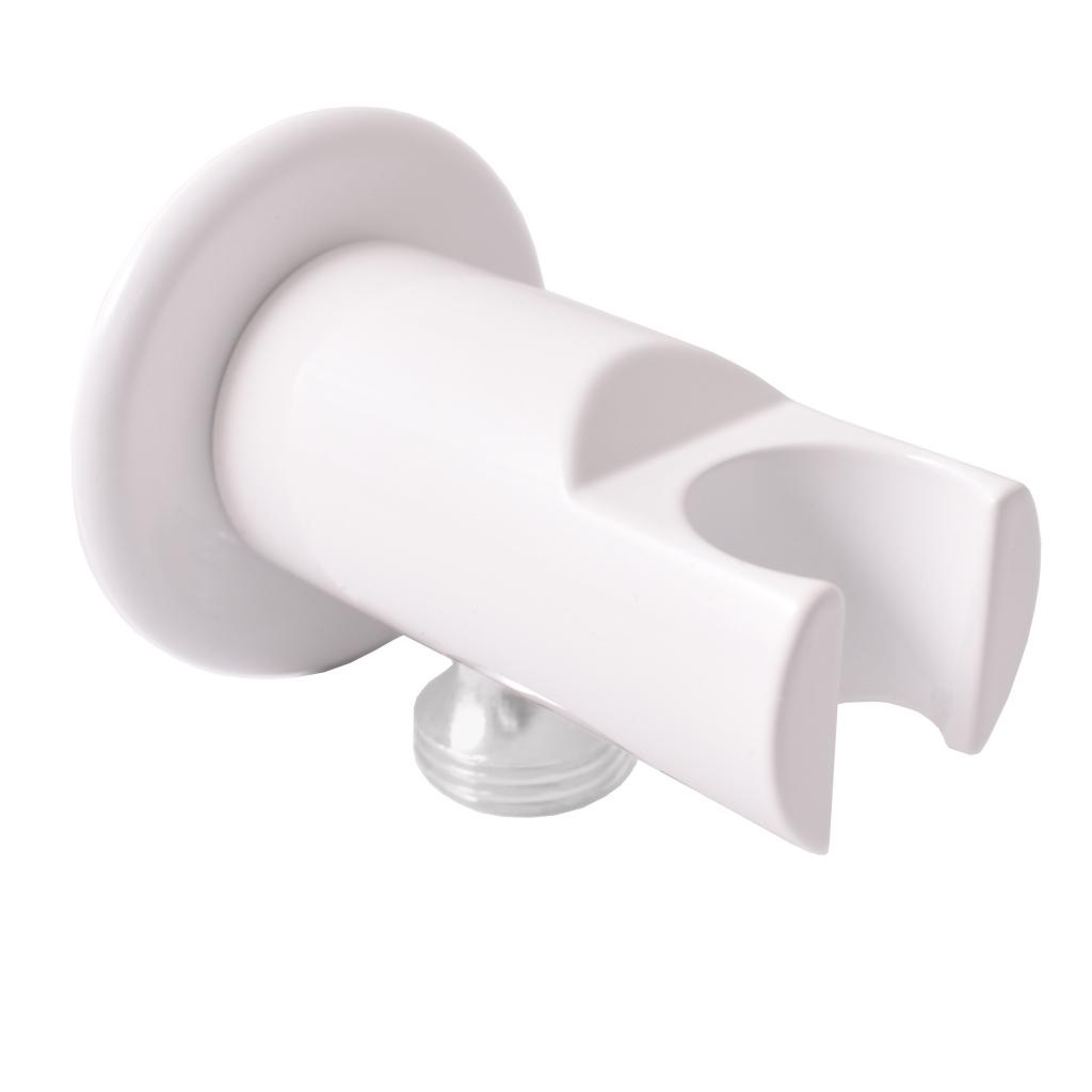 SLEZAK-RAV - Držiak sprchy s vývodom pre hadicu biela, Farba: biela (MD0614RB)