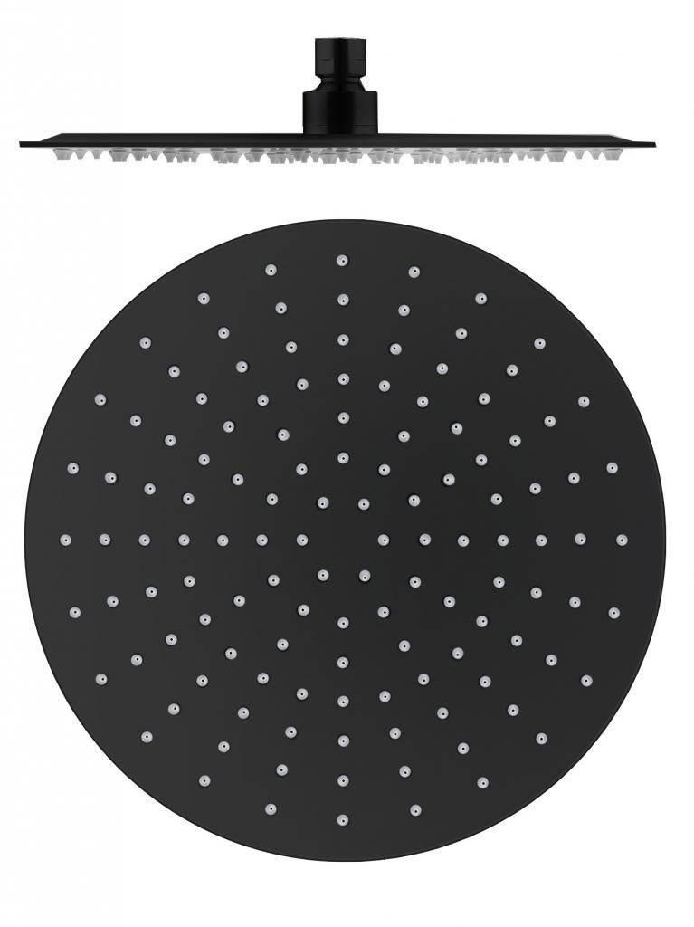 SLEZAK-RAV - Hlavová sprcha guľatá kovová ø 30 cm čierna matná, Farba: čierna matná (KS0001CMAT)