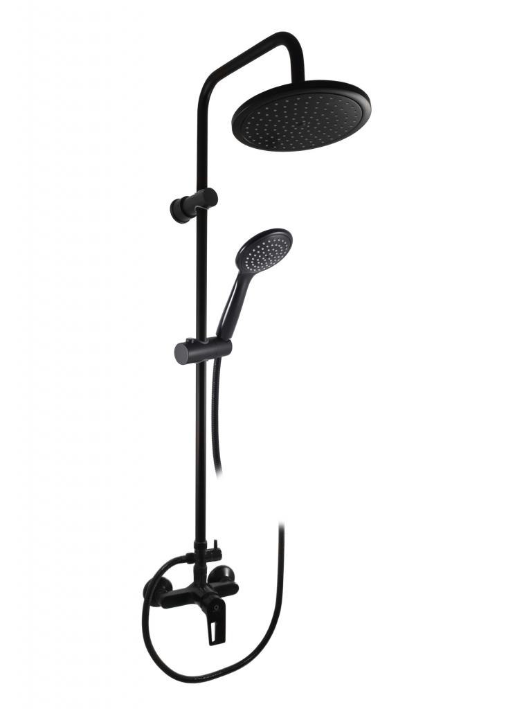 SLEZAK-RAV - Vodovodné batérie sprchová COLORADO s hlavovou a ručnou sprchou čierna matná, Farba: čierna matná, Rozmer: 100 mm (CO282.0 / 3CMAT)