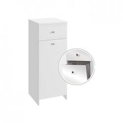 A-Interiéry - Kúpeľňová doplnková skrinka nízka s výklopným košom Vilma NK 32 (vilma nk32)