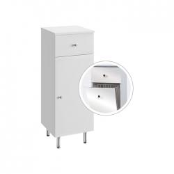 A-Interiéry - Kúpeľňová doplnková skrinka nízka s výklopným košom Vilma NK 32 ZV (vilma nk32zv)