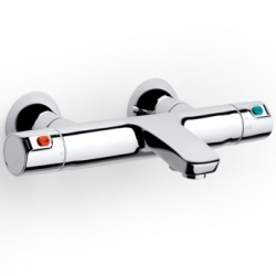 AKCE/ROCA - Nástenná termostatická vaňová batéria VICTORIA s prepínacím ventilom a regulátorom prietoku, bez příslušensví (A5A1118C00)