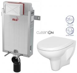 ALCAPLAST  Renovmodul - predstenový inštalačný systém bez tlačidla + WC CERSANIT ARTECO CLEANON + SEDADLO (AM115/1000 X AT1)