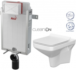 ALCAPLAST  Renovmodul - predstenový inštalačný systém bez tlačidla + WC CERSANIT CLEANON COMO + SEDADLO (AM115/1000 X CO1)