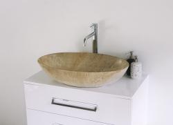 Aquatek - DENIS M keramické umývadlo s povrchovou štruktúrou mramoru 66 x 44 x 16 cm (Denise)