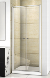 Aquatek - Family B02 CHROM Sprchové dvere do niky dvojkrídlové, 77-81 x 190cm, výplň sklo - číre (FAMILYB0280-06)