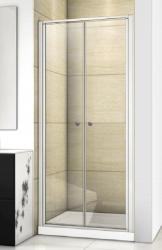 Aquatek - Family B02 CHROM Sprchové dvere do niky dvojkrídlové, 77-81 x 190cm, výplň sklo - grape (FAMILYB0280-19)