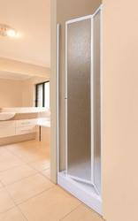 Aquatek - LUX B6 90 - Sprchové dvere zalamovacie 86 - 91 cm, výplň plast - voda (LUXB690-20)
