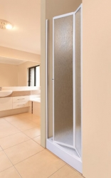 Aquatek - LUX B6 90 - Sprchové dvere zalamovacie 86 - 91 cm, výplň sklo - grape (LUXB690-19)