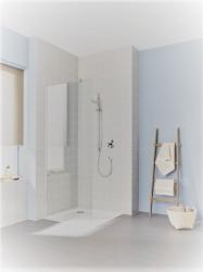 Bezdveřové zásteny do sprchovacieho kúta