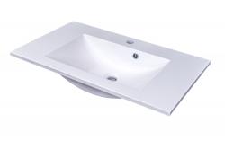 CEDERIKA - SLIM 75 umývadlo z liateho mramoru - BIELE (CA.05477)