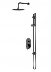 CERSANIT - Podomietkový sprchový set B261 INVERTO, čierna + zlatá páčka (S952-006)