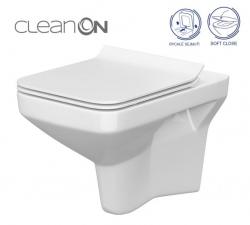 CERSANIT - SET 742 ZÁVESNÁ WC MISA COMO CLEANON so sedadlom DUR ANTI Softclose (K701-102)