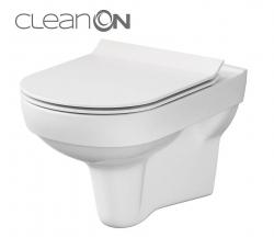 CERSANIT - SET 794 ZÁVESNÁ WC MISA CITY NEW CLEANON + WC SEDENIE SLIM DUR SC ONE BUTTON BOX (K701-143)