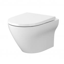 CERSANIT - SET B331 WC misa LARGA OVAL Cleanon + sedadlo SLIM (S701-472)