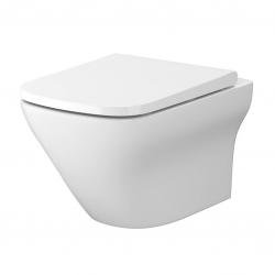 CERSANIT - SET B332 WC misa LARGA SQUARE Cleanon + sedadlo SLIM (S701-473)