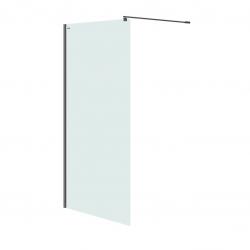 CERSANIT - Sprchová zástena WALK-IN MILLE BLACK 100x200, číre sklo (S161-003)