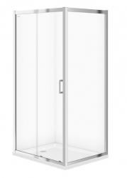 CERSANIT - Sprchovací kút ARTECO obdĺžnik 100x80x190, posuv, číre sklo (S157-011)