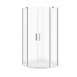 CERSANIT - Sprchovací kút MODUO štvrťkruh 90x195, kývne, číre sklo (S162-010)
