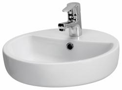CERSANIT - Umývadlo CASPIA RING 44 na dosku s prepadom (K11-0094)