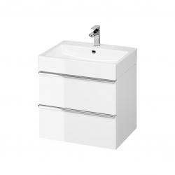 CERSANIT - Umývadlo skrinka VIRGO 60 biela s chrómovými úchytmi (S522-017)