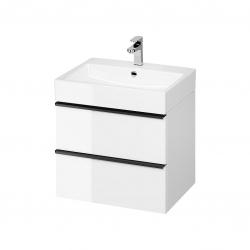 CERSANIT - Umývadlo skrinka VIRGO 60 biela s čiernymi úchytmi (S522-018)