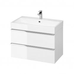 CERSANIT - Umývadlo skrinka VIRGO 80 biela s chrómovými úchytmi (S522-024)