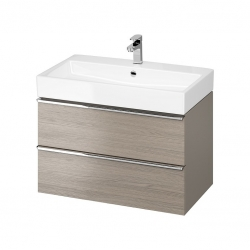 CERSANIT - Umývadlo skrinka VIRGO 80 sivý dub s chrómovými úchytmi (S522-028)